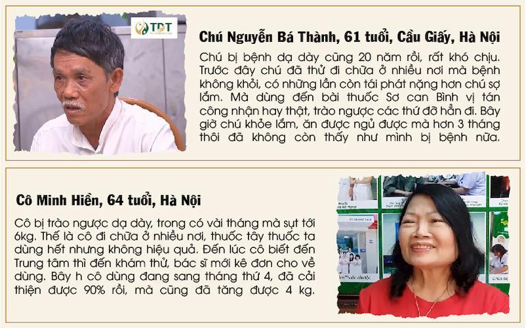 Bệnh nhân chia sẻ về Sơ can Bình vị tán