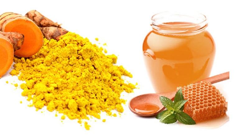Mật ong và nghệ kết hợp chữa dạ dày