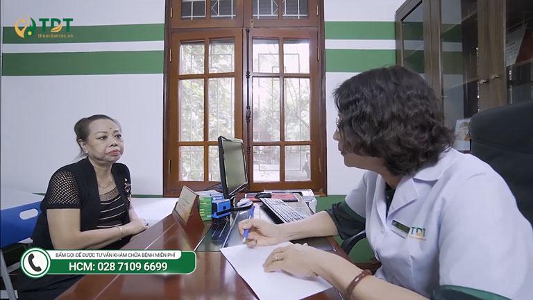 NS Thu Hà hài lòng sau khi thăm khám và trị bệnh tại Trung tâm