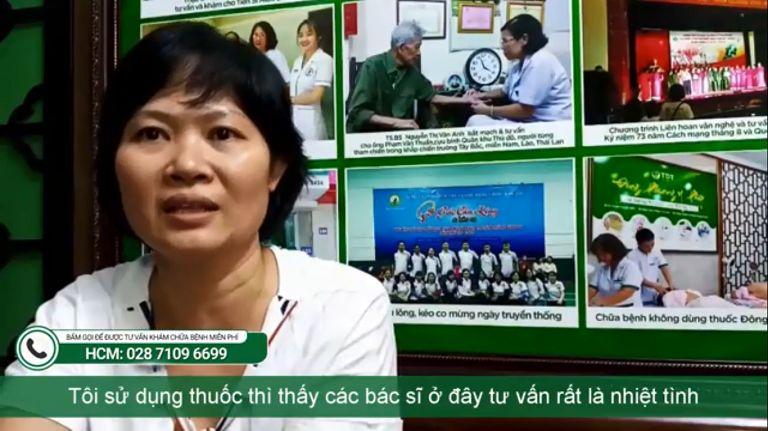 Chị Lâm Thanh chia sẻ hành trình chữa bệnh dạ dày tại Thuốc dân tộc
