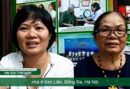 Chị Vân Thanh và mẹ được ghi lại khi đến Trung tâm Thuốc dân tộc tái khám