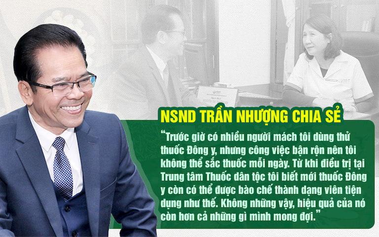 NSND Trần Nhượng đã khỏi dạ dày nhờ Sơ can Bình vị tán