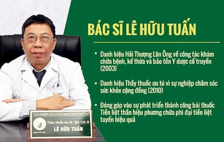 Bác sĩ Lê Hữu Tuấn - Bác sĩ Trung tâm Nghiên cứu và Ứng dụng Thuốc dân tộc