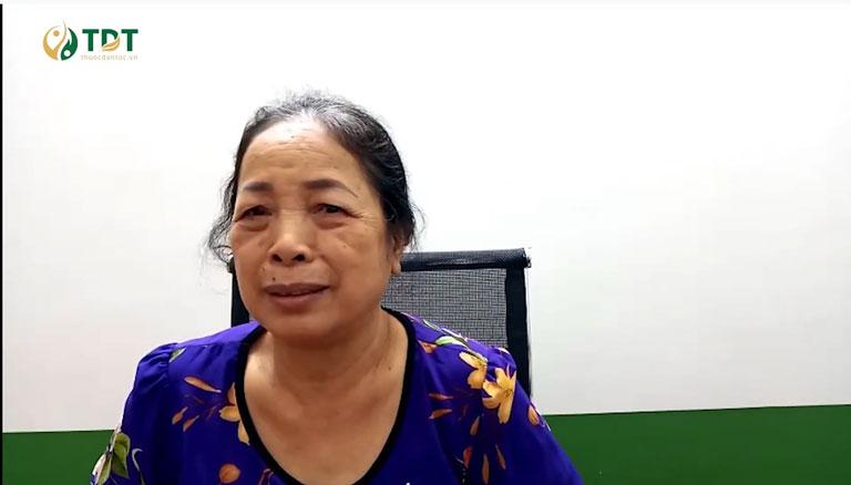 Cô Nguyễn Thị Bê với những chia sẻ sau khi sử dụng Sơ can Bình vị tán