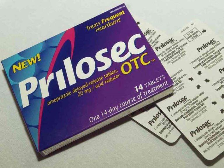 Thuốc trị đau dạ dày Prilosec.